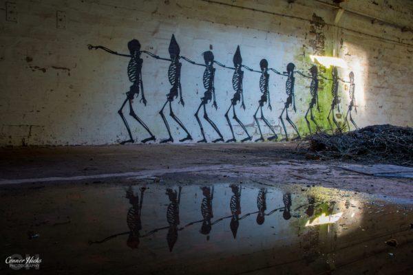 skeleton urbex warehouse belgium graffiti 1024x683 Skeleton Warehouse, Belgium