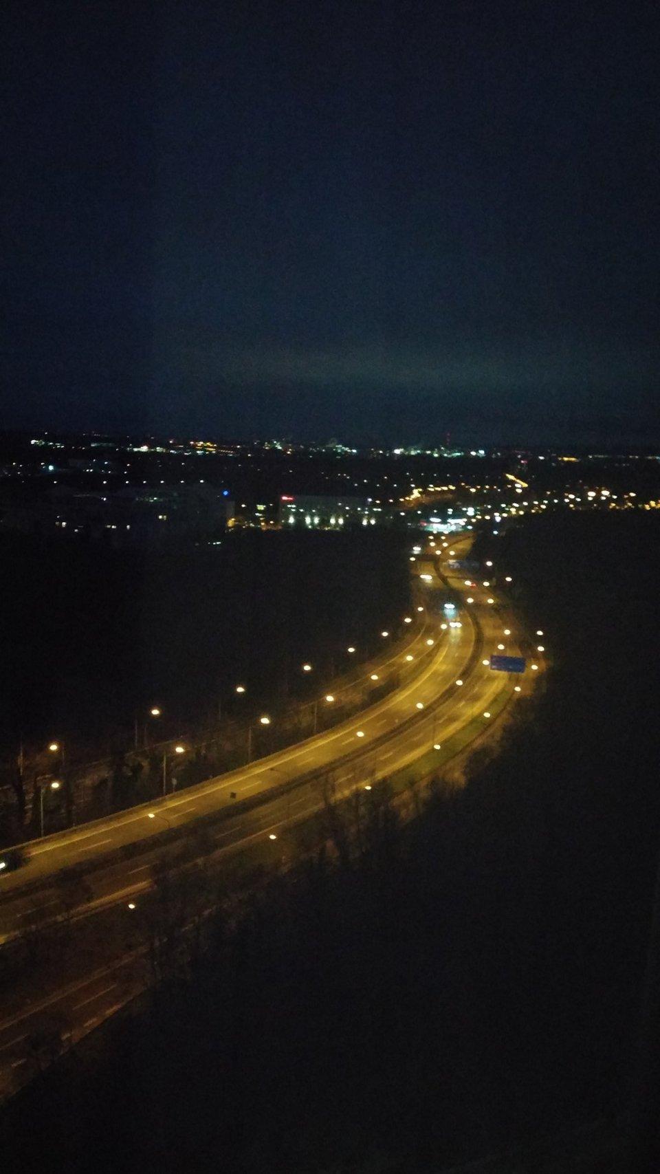 Das Lichterfunkeln in der Nacht