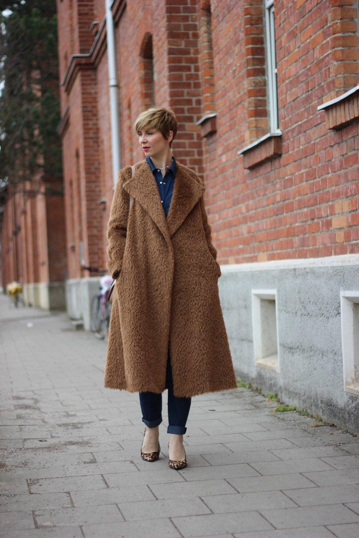 Tchibo Frühlingskollektion: Jeansjumpsuit, denim, schumacher, Mantel, fake fur