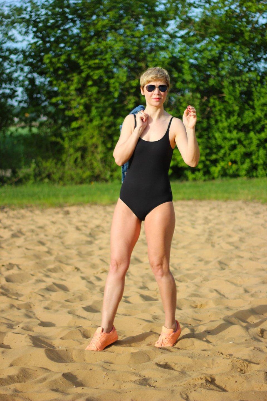 Conny Doll Lifestyle: Badeanzug, perfect black suit, rosa faia, swimwear, bademode, anita