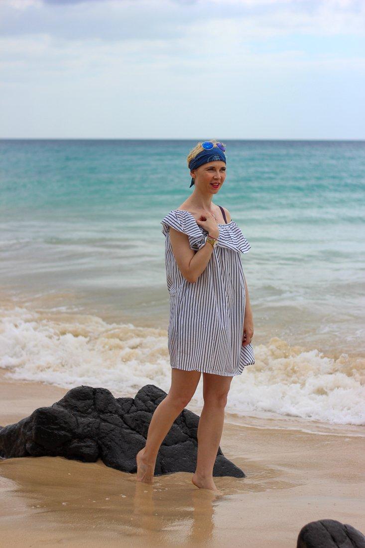 conny doll lifestyle: Brava, Kleid, Strandkleid, Rosa Faia, Beachwear, Sandstrand,