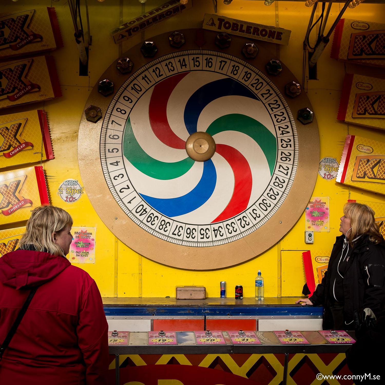 Ingen marknad eller tivoli, utan chokladhjul...