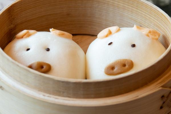 今日のおかゆの豚まん