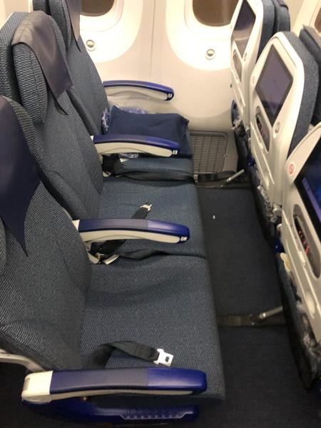 座席の状態