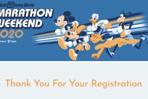 ランディズニー・ウォルト・ディズニー・ワールド・マラソン・ウィークエンドの確認メール