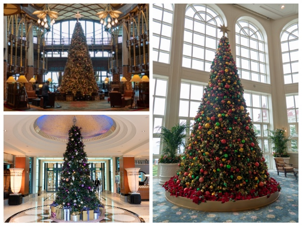 香港ディズニーランド・リゾートのクリスマスツリー