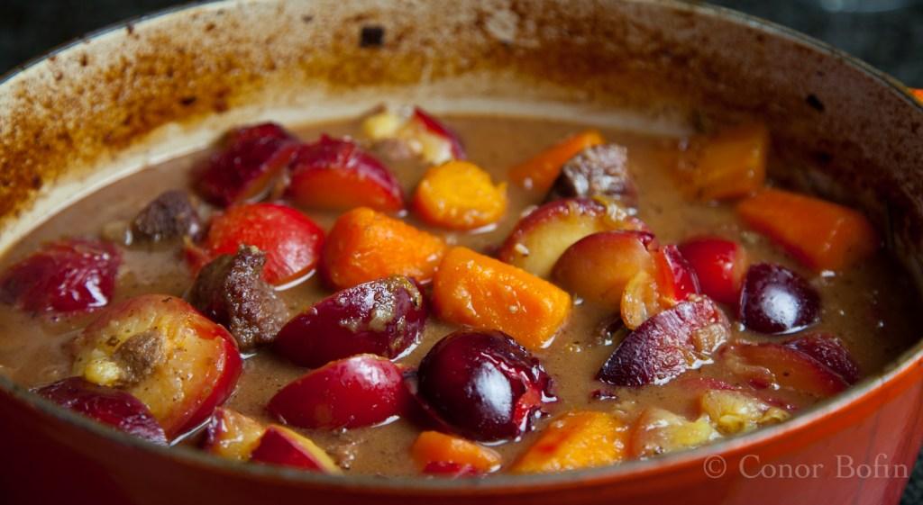Venison and plum stew