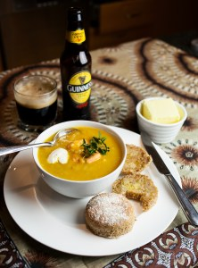 Seafood Chowder and Scones
