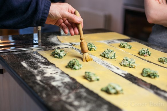 Crab and Spinach Ravioli