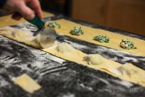 Crab and Spinach Ravioli