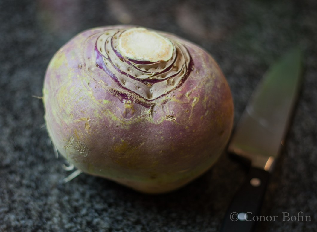 The gratuitous turnip shot. I'll bet you didn't see that coming.
