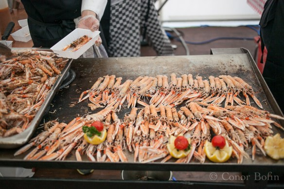 What else would you expect to see at a prawn festival?
