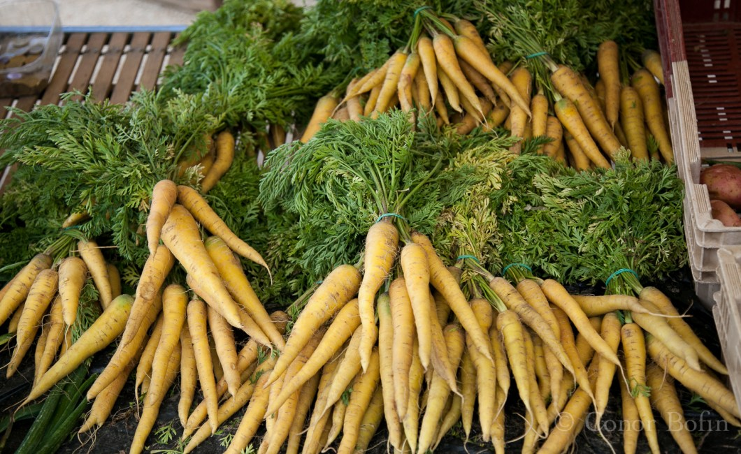 "Yellow carrots? ""Oui monsuir, do you not 'ave them in Irelande?"""