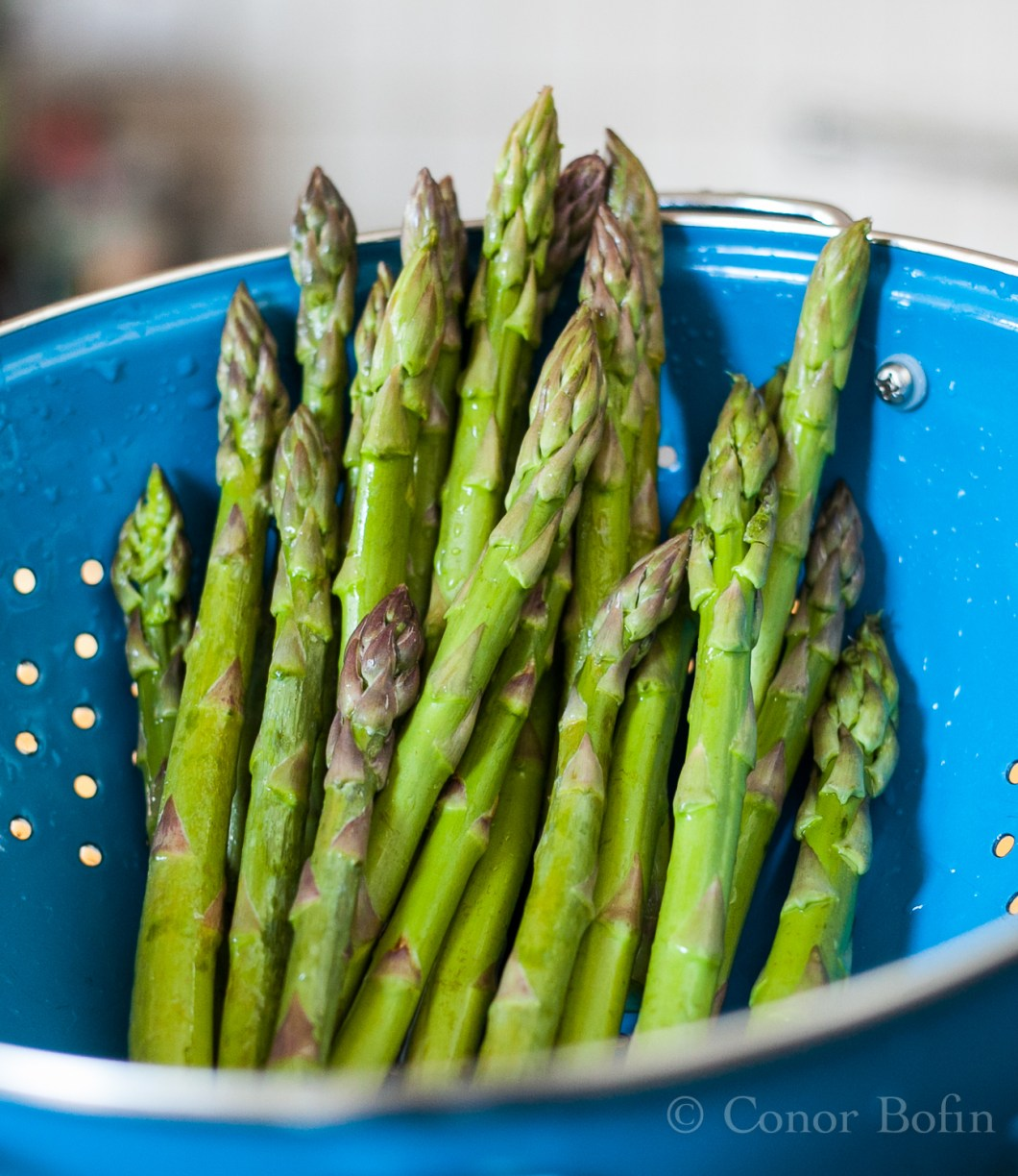 Lucky to have some beautiful asparagus on hand. This was a very lucky day.
