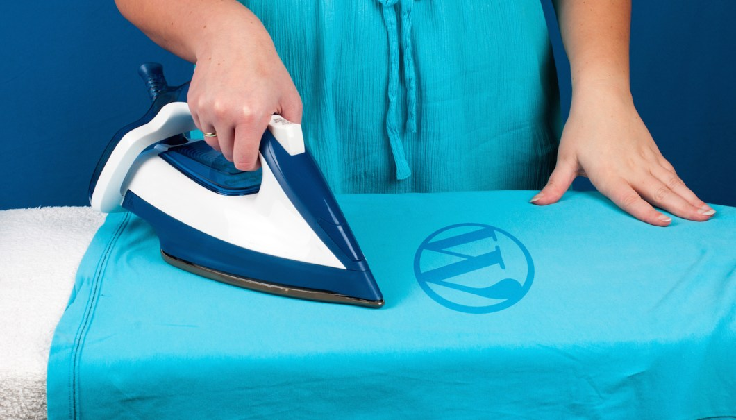 We gotta' look sharp for the weekend. Don't iron over the logo!