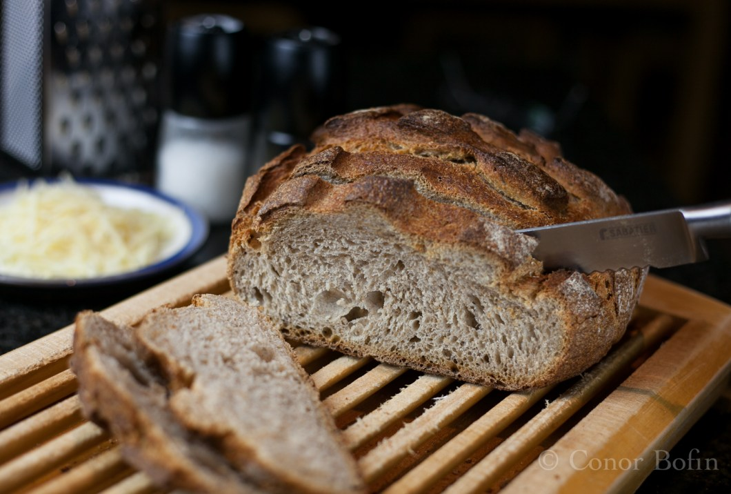 Lovely sourdough bread. A perfect partner for peasant soup.
