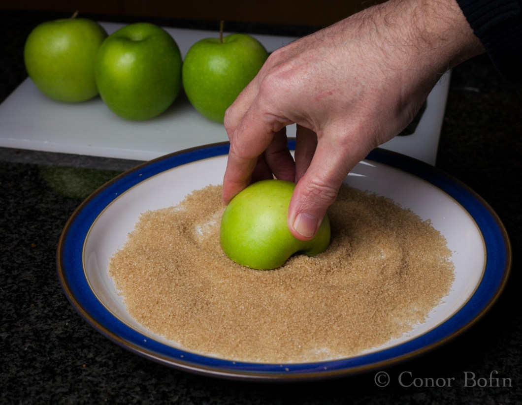 This is a very easy bit of the process. Apple goes so well with pork.