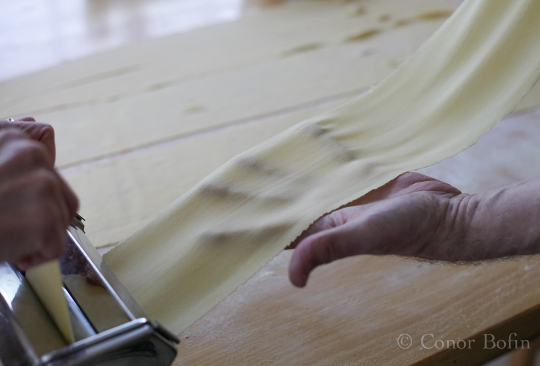 The pasta needs to be rolled very thin. Very, very thin...