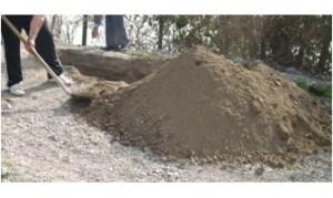 accumulo di terreno da scavo
