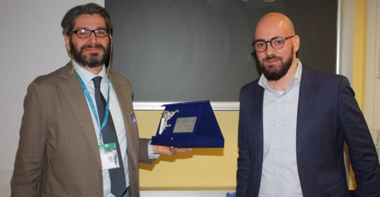 Il Prof. Fabbri con il geologo Galizia