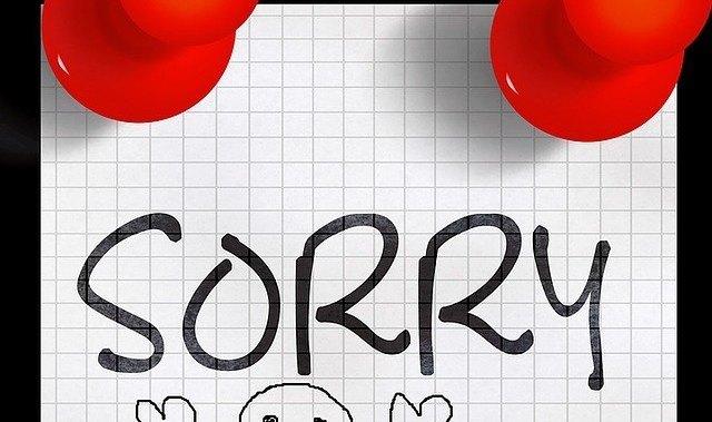 el perdón al admitir errores