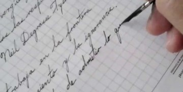 escribir en manuscrita