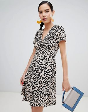 New Look Leopard Print Tea Dress