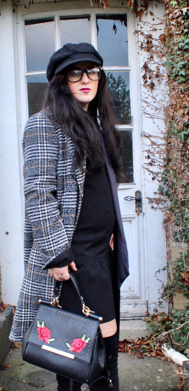 Checked Coat -Girl Boss Style