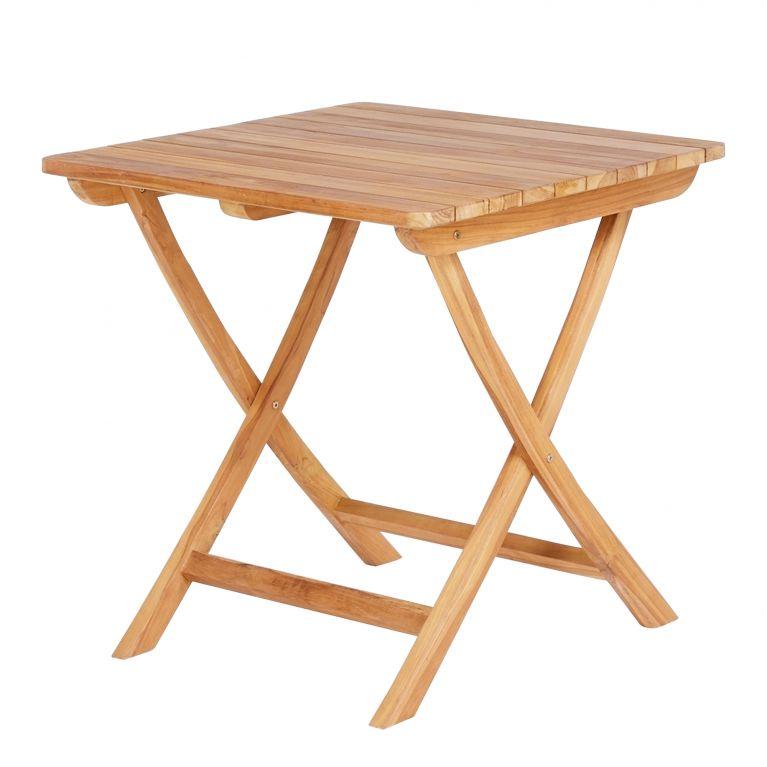 table bistrot d exterieur pliante en teck