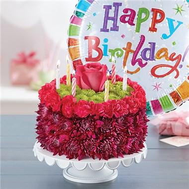 1 800 Flowers Birthday Wishes Flower Cake Purple Canoga Park Ca