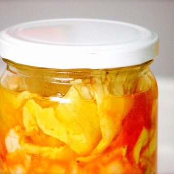 Kimchi de repollo y hakusai