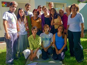 Taller grupal en Villa Regina, Río Negro