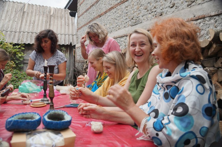 An artisan workshop with My Sisters in Georgia.