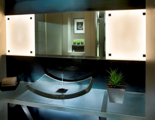 Sustainable Lighting Luxury Bathroom