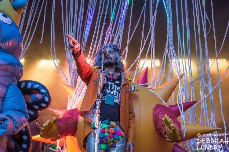 Wayne Coyne of The Flaming Lips onstage at Grand Point North