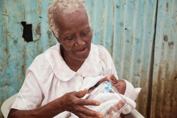 The gift of light given to a grandma and granddaughter - Batey ALeman, Domincan Republic