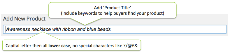 Add Product Title