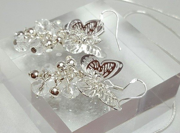 Filigree butterfly earrings
