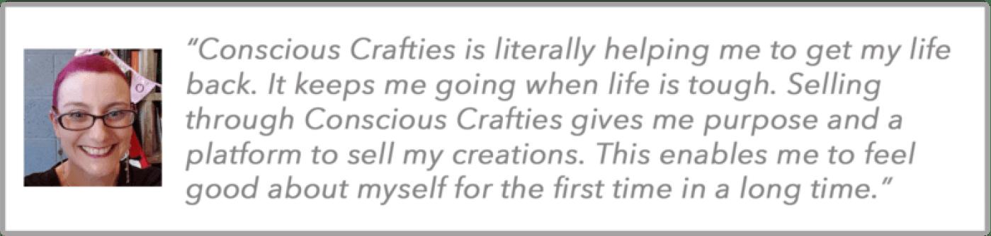 Conscious Crafties review Laura C Testimonial