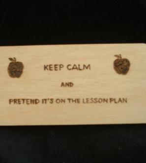 Keep calm lesson plan teacher fridge magnet