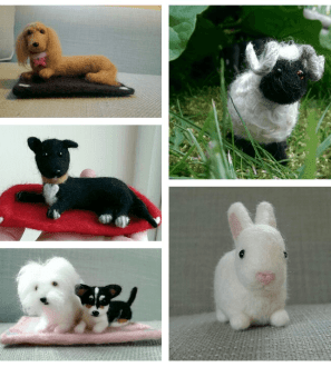 Miniature pet animal dog cat