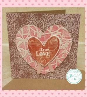 Handmade True Love heart card