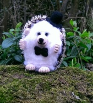 Needlefelt Groom Wedding Hedgehog - Mr Hog