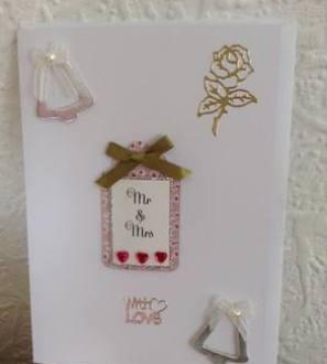 Handmade Mr and Mrs Card