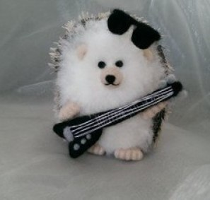 Needlefelt Miniature Hedgehog Sir Rock Hog - Conscious Crafties
