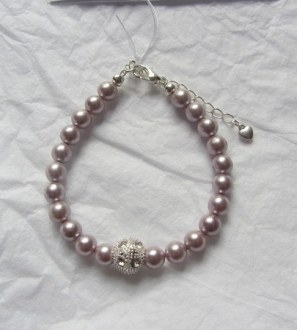 Silver plated Shell pearl bracelet
