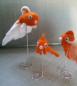 Miniature Needlefelt Fancy Goldfish
