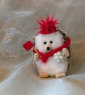 Football Fan Gift Hog Miniature Needlefelt Hedgehog - Any Colour!
