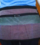 Handmade traders' money apron can be personalised