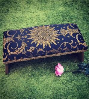 Sunburst Angel Oak Meditation Bench